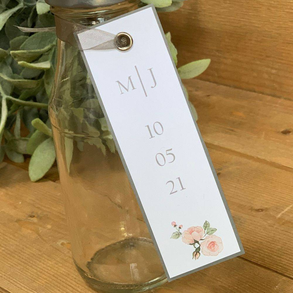 Favour Tags - Printed with initials and date of wedding