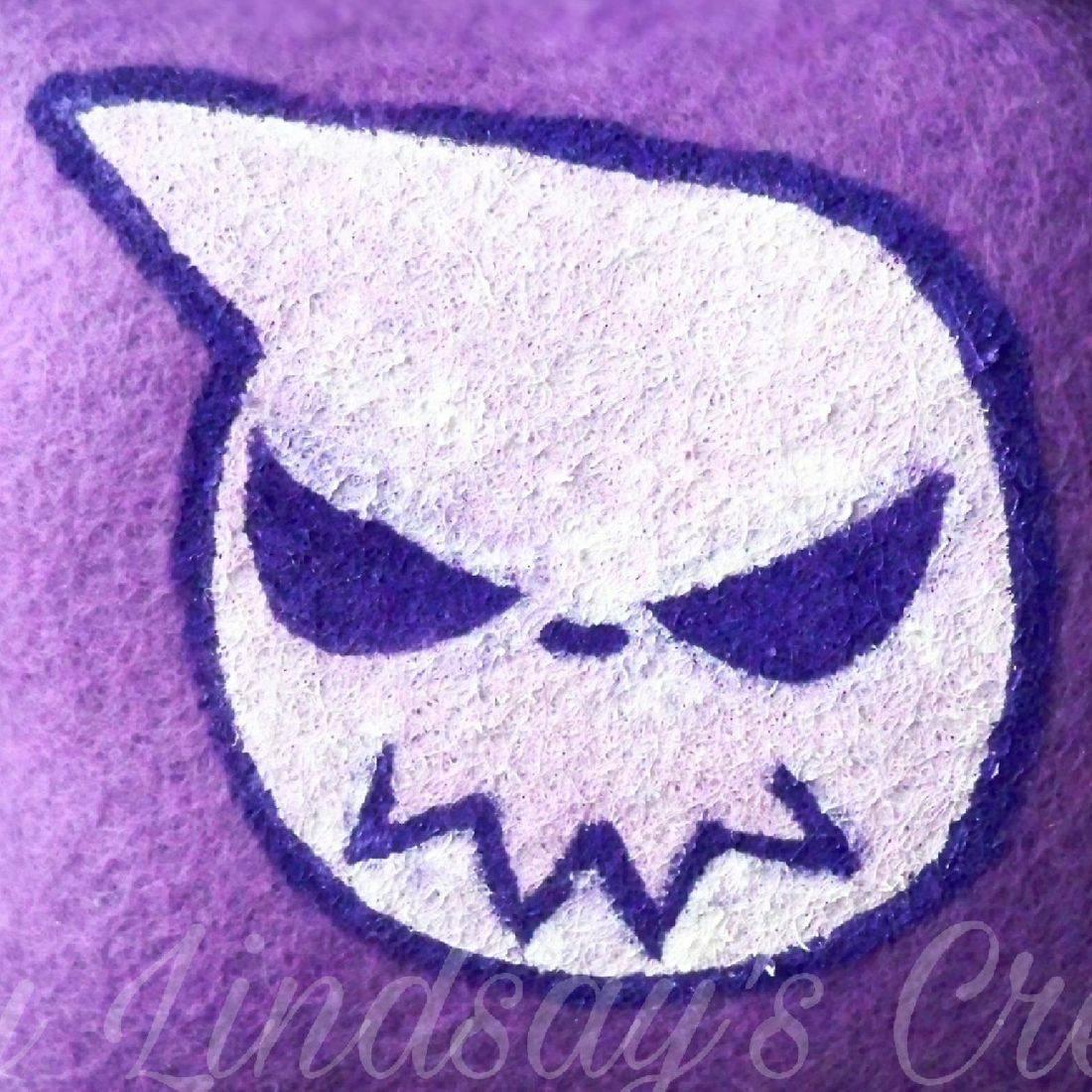 Soul Eater, purple, anime, otaku, nerd, geek, hand painted, handcrafted, craft, handmade, Etsy, shop small, small business