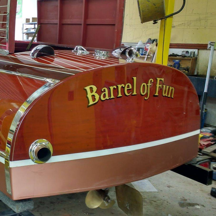 Chris Craft Barrel Back at Bergersen Boat Co.