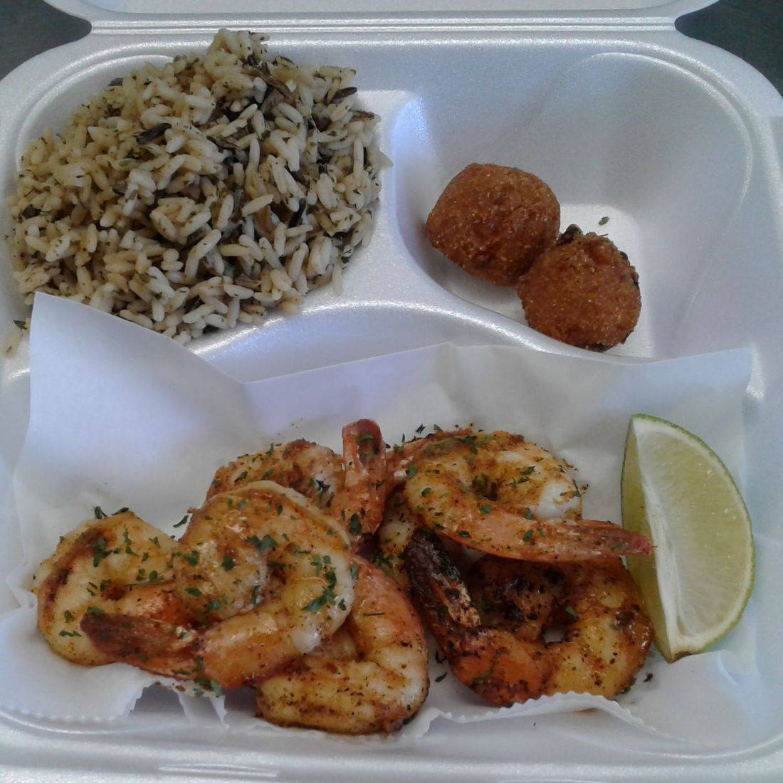Grilled Shrimp w/ Rice