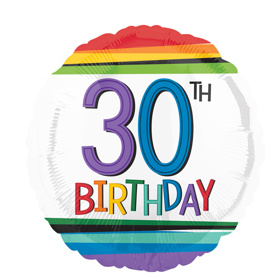 Age 30 birthday Foil Balloon