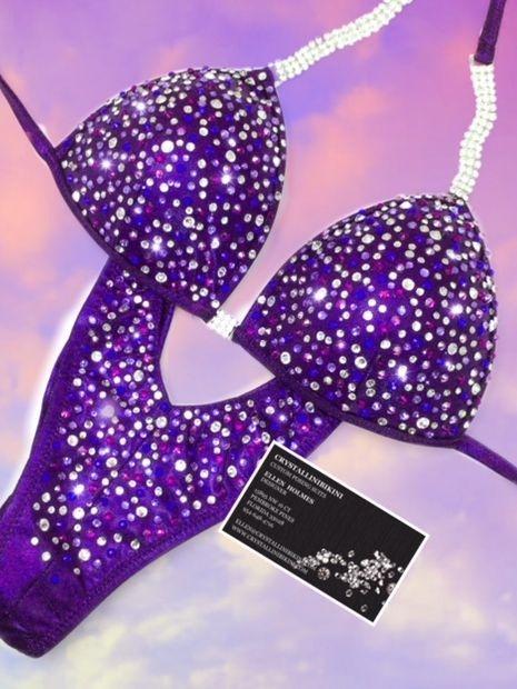 purple wellness v front bikini