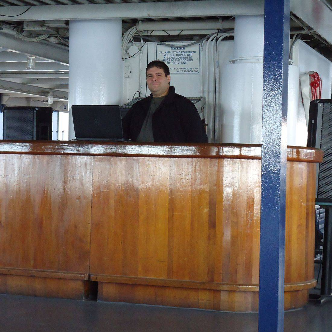 Michael Pircio deejaying a Corporate Event aboard the Trillium Ferry in Toronto