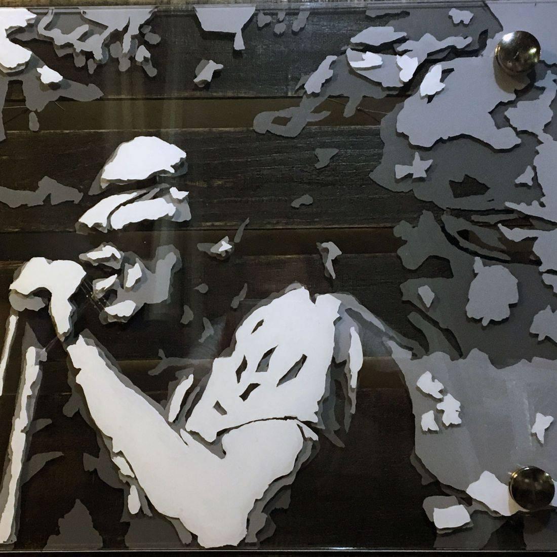 art o  glass steve dixon custom painting layered glass