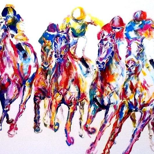 horse racing in colour