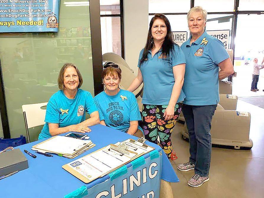 Four volunteers