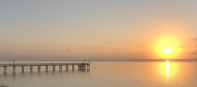 Sunset Copano Bay Fishing Pier
