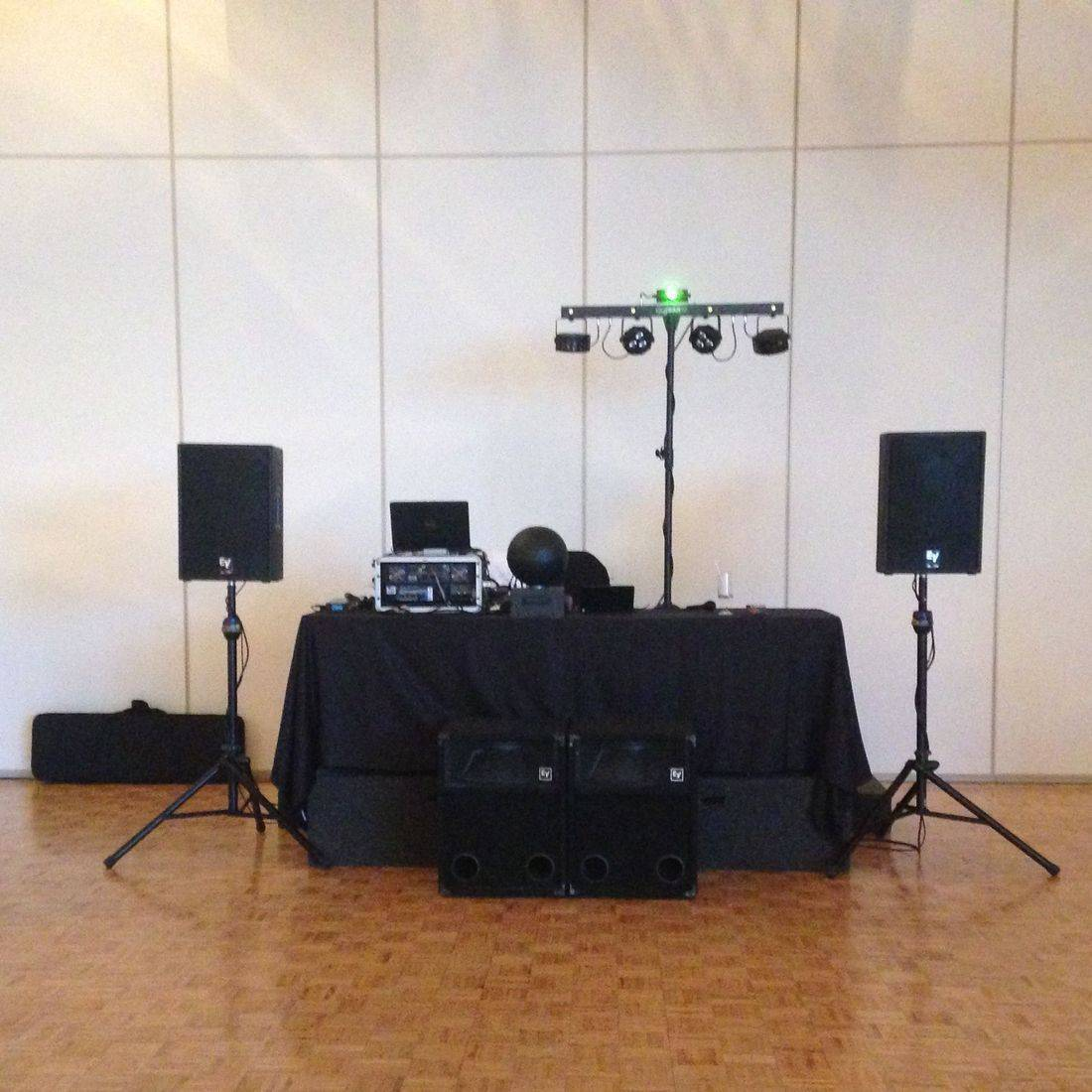 Mr. Productions DJ Service at a Carmens wedding.