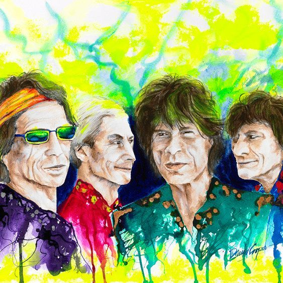 DCooper - The Rolling Stones - Giclee - 32x24 - $249