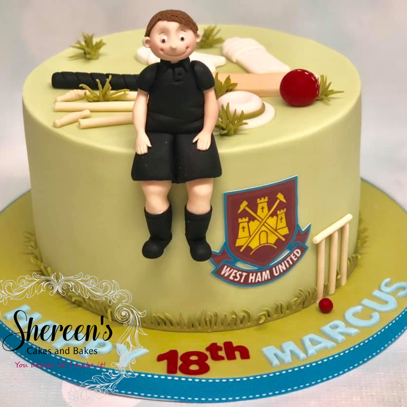 Birthday Cake Referee Cricket