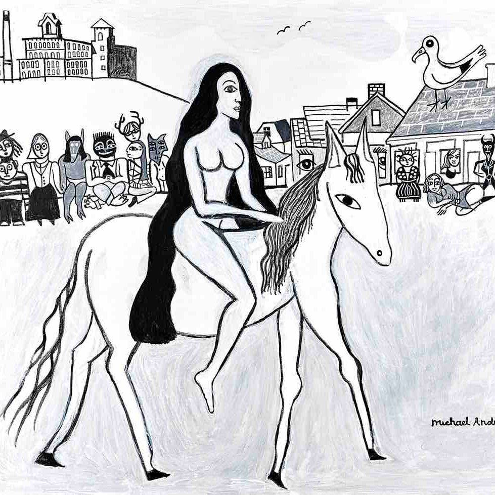 Lady Godiva, Coventry, England, Coventry, Rhode Island, Anthony Mill, Village, Townspeople, Lady Godiva's Horse