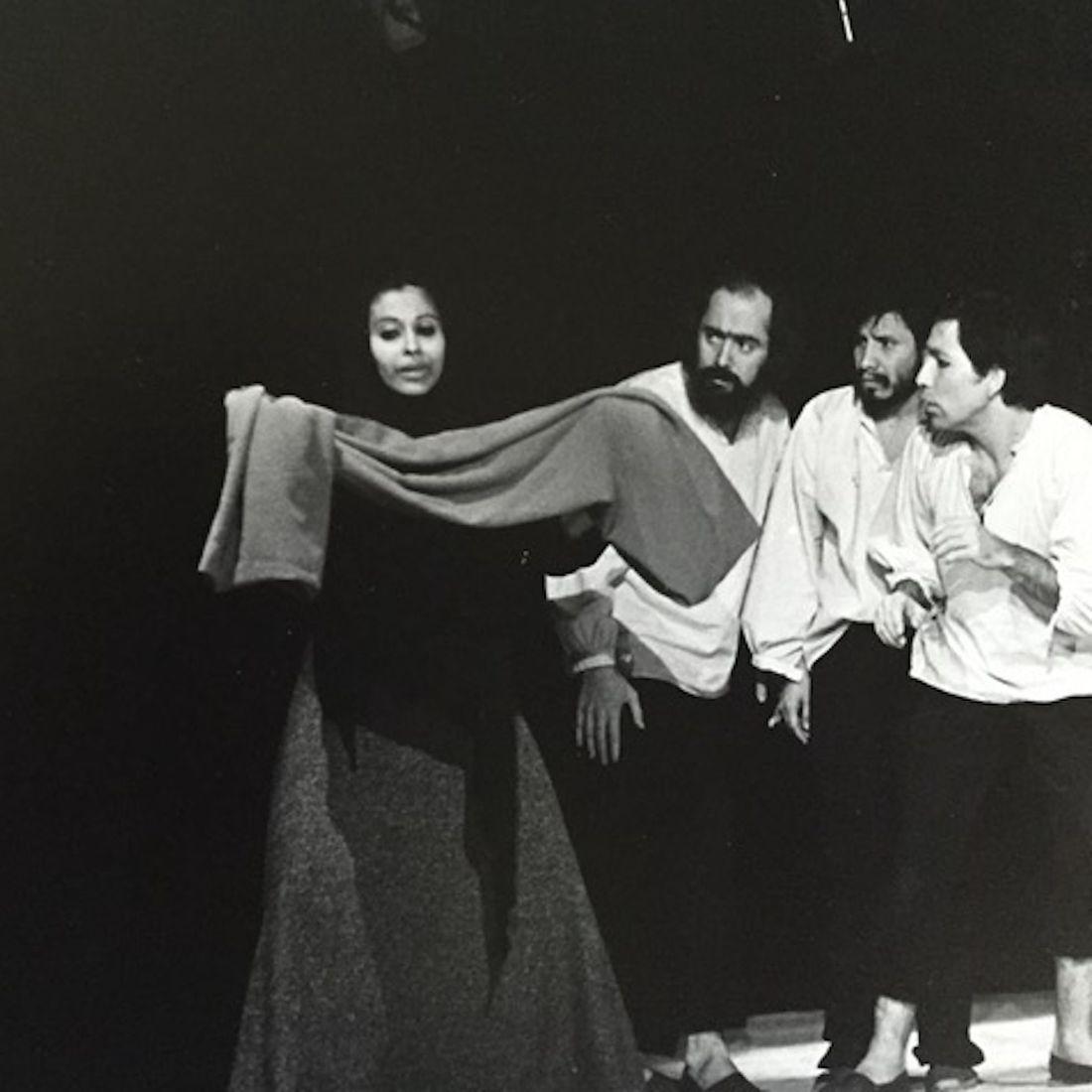 La maestra de escuela  by Enrique Buenaventura, directed by Gustavo Gac-Artigas, actors: Priscilla Gac-Artigas, Gustavo Gac-Artigas, Freddy Rojas and Jaime Prat Corona