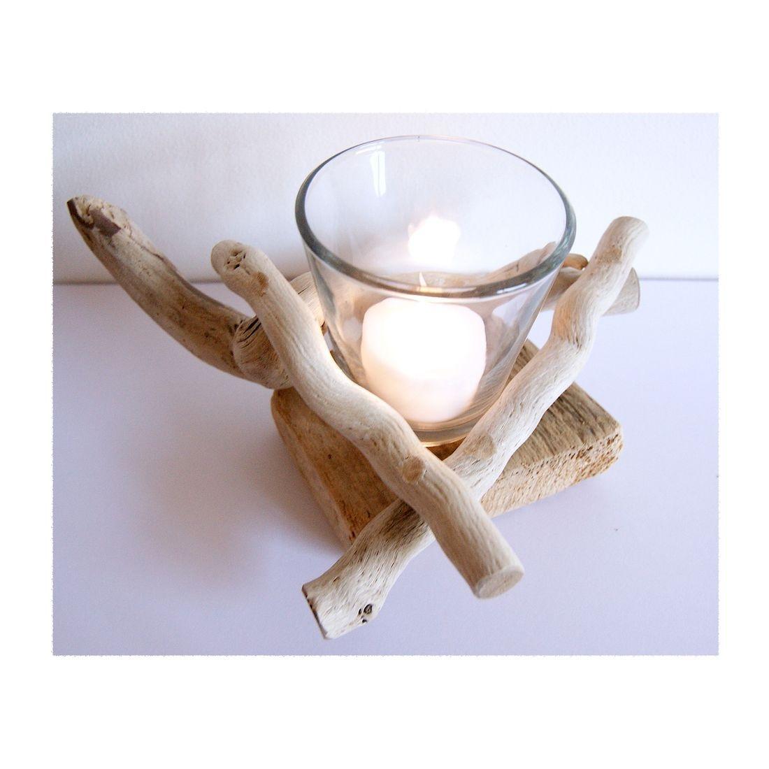 Driftwood candle tea light holder 9