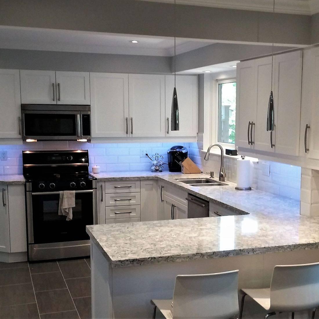 Sibra Kitchens Markham Toronto cambria quartz white shaker cabinets