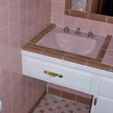 Pink tiles before resurfacing