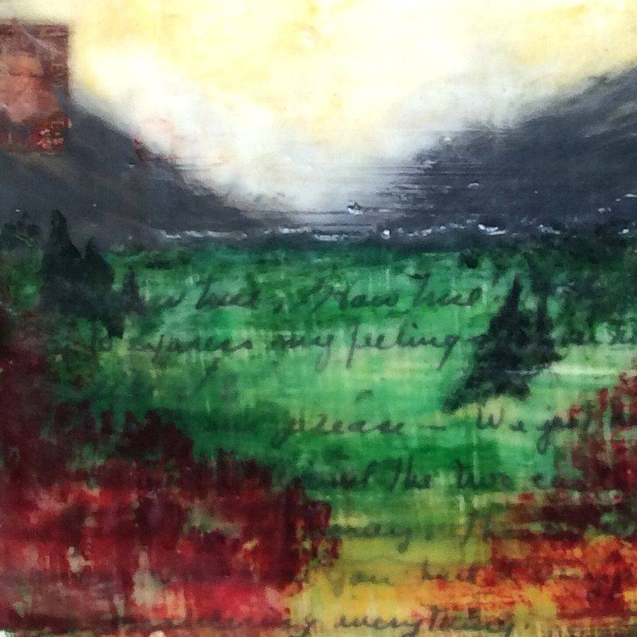 Abstract Encaustic Landscape, by Art And Soul By The Lake