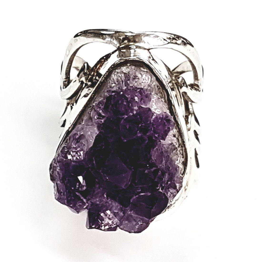 Solid silver amethyst ring available at Kazbah online and our Leicester city centre shop