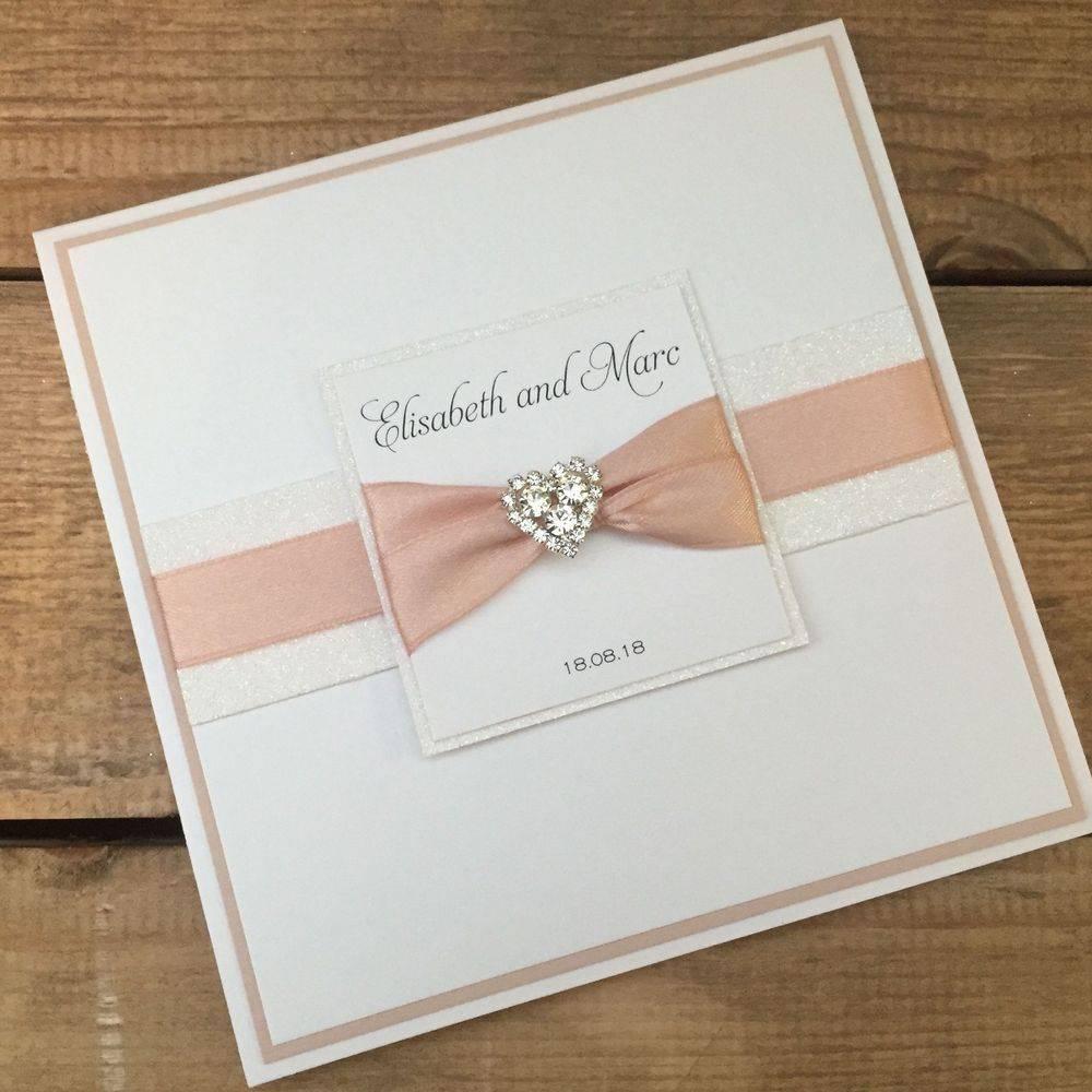 Rustic Pocket fold wedding invitation