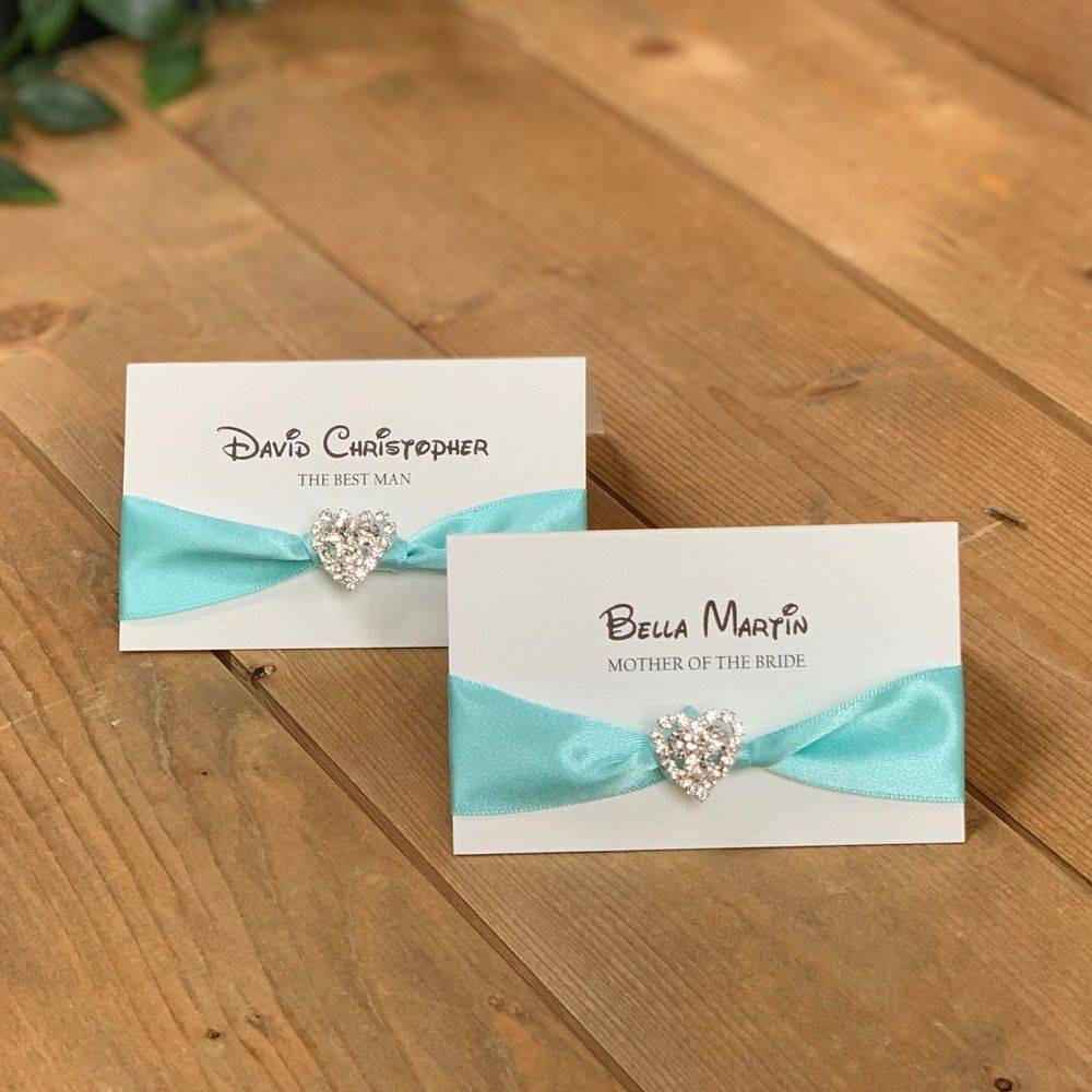 Disney Wedding Stationery, Cinderella style place names