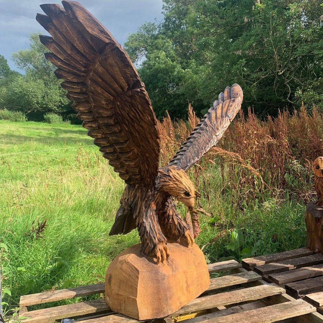 Eagle Chainsaw Carving, Mike Burgess, Cheshire UK