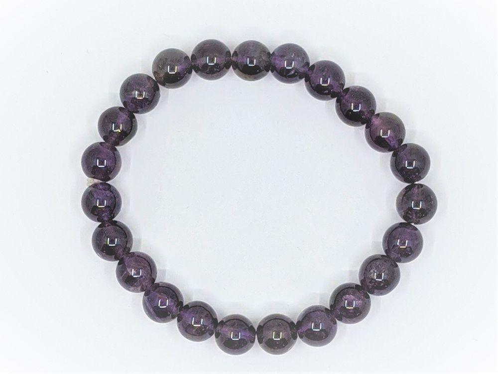 Amethyst Bead Bracelet