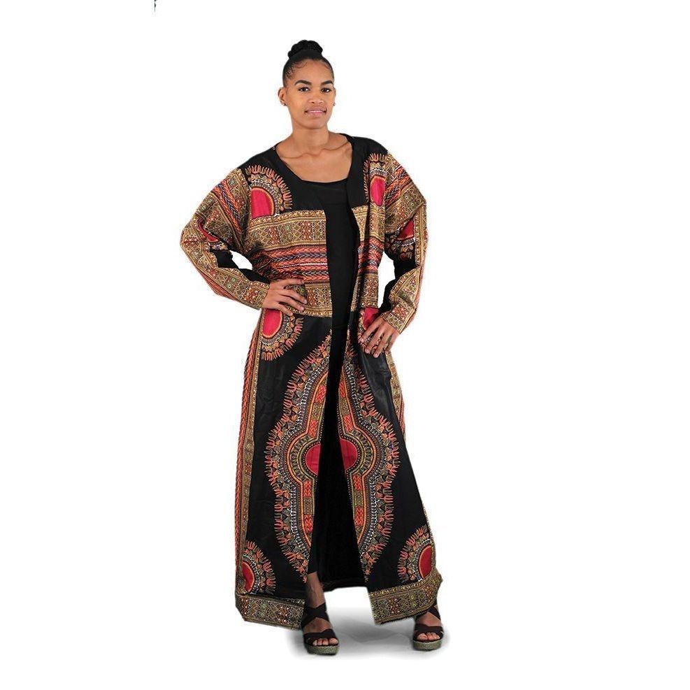 African Print Coat