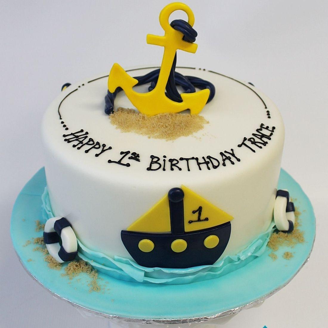 Custom Anchor Sailboat Cake Milwaukee
