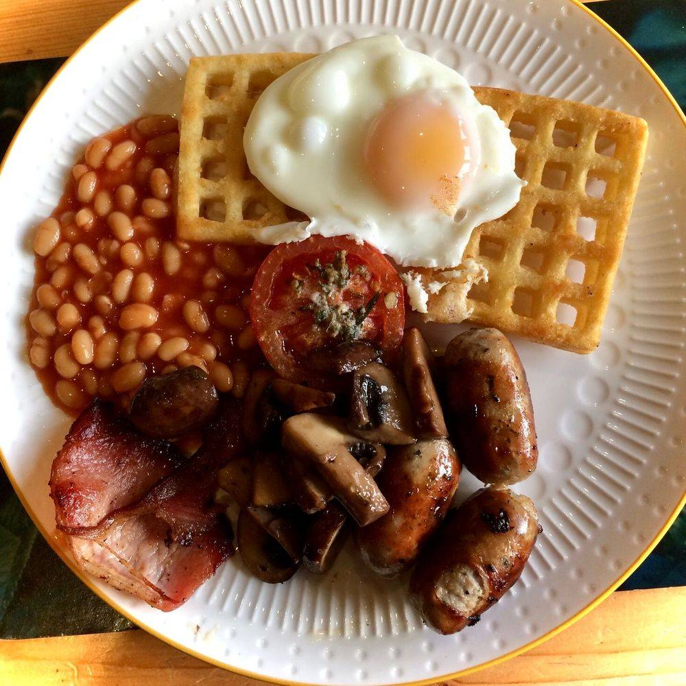 English Breakfast Fry up with Original Italian and Chilli Herb Salt seasoning