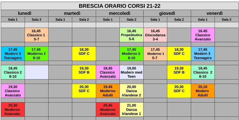Corsi danza Brescia