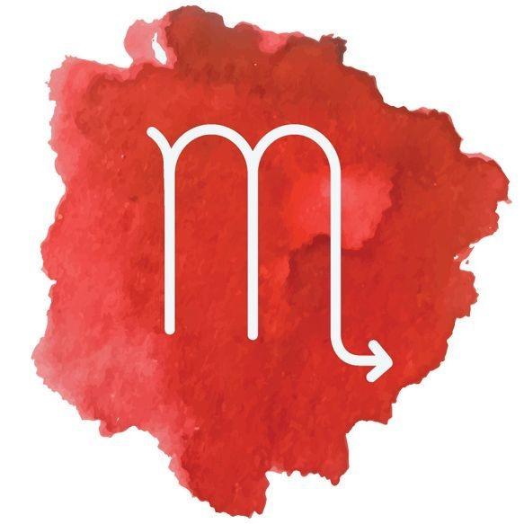 Image: watercolor Scorpio symbol