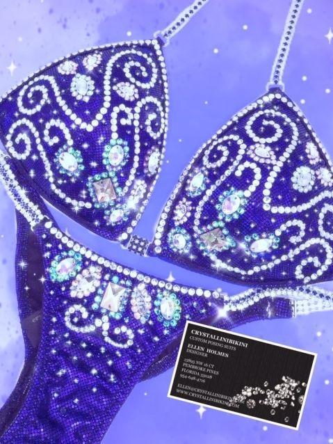 royal purple competition bikini