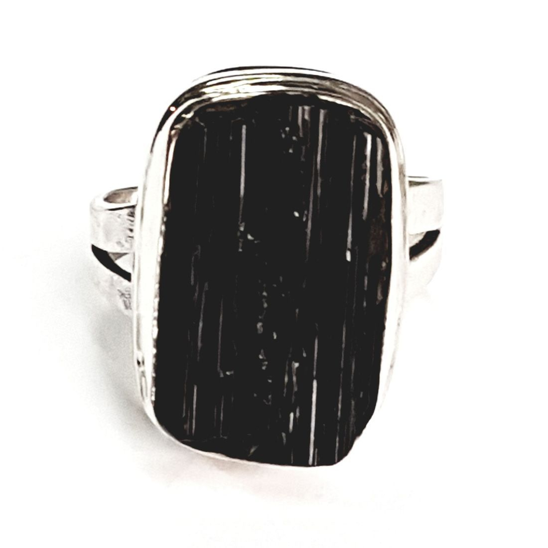 Solid Silver Black Tourmaline ring available at Kazbah online and our Leicester city centre shop