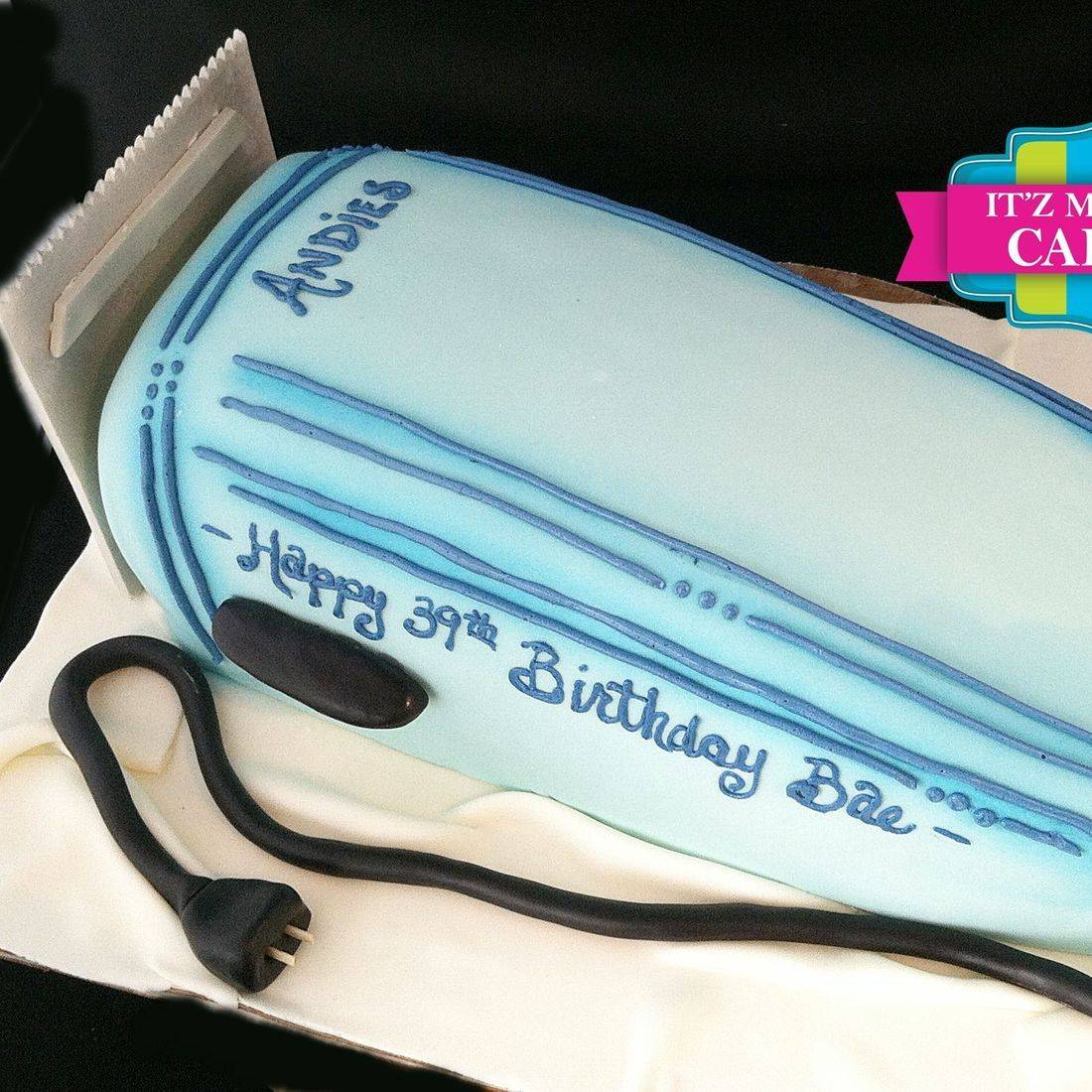 Blue Trimmer Cake Carved Dimensional Cake Milwaukee
