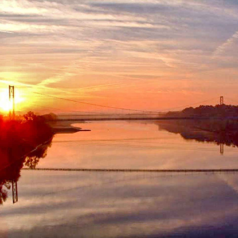 Grand Ecore, Red River, river, Natchitoches, sunset, scenic