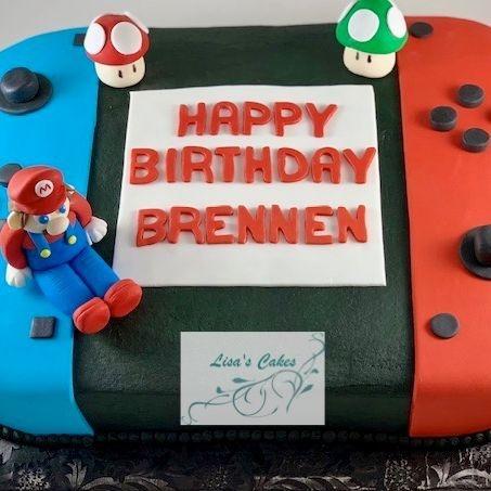 Nintendo Mario Birthday Cake