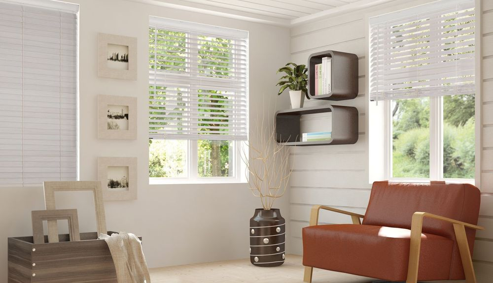 Photo of window treatments in living room