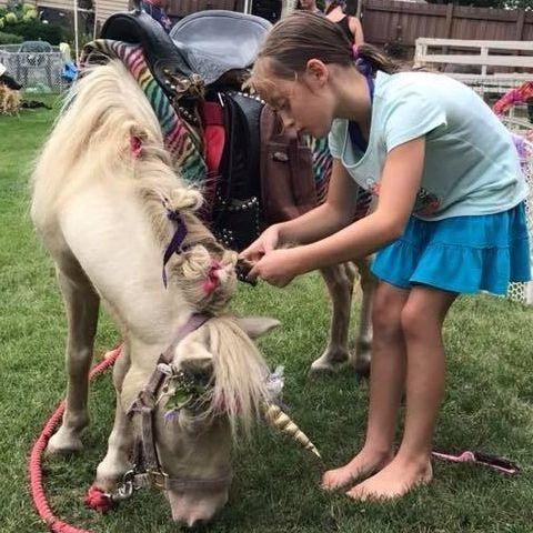 girl and unicorn