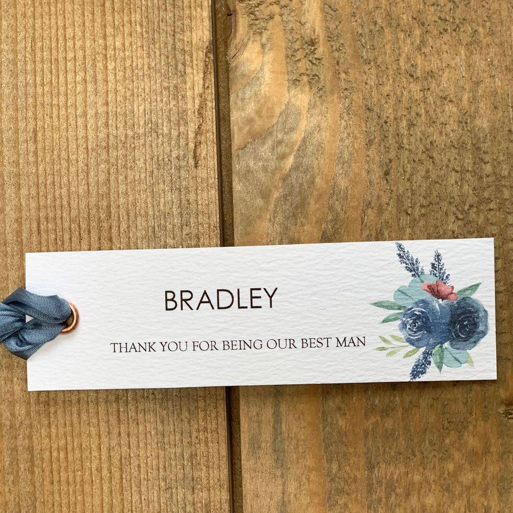 Personalised wedding gift tags
