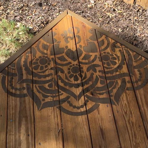 stencil, Wilmington NC, exterior, painting, stain, deck, porch, pressure wash, two tone, custom