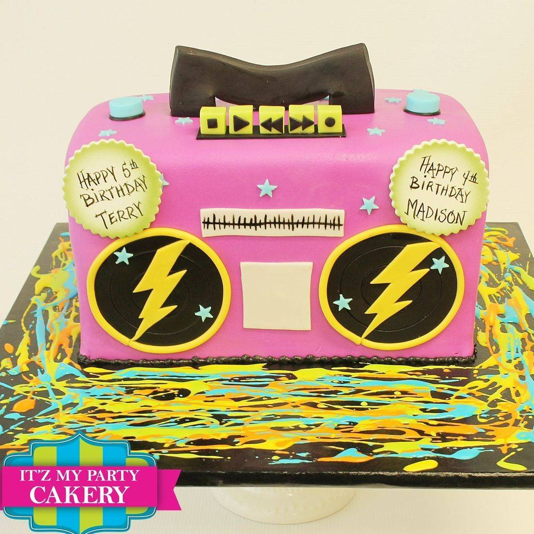 Boom Box Carved Dimensional Cake Milwaukee