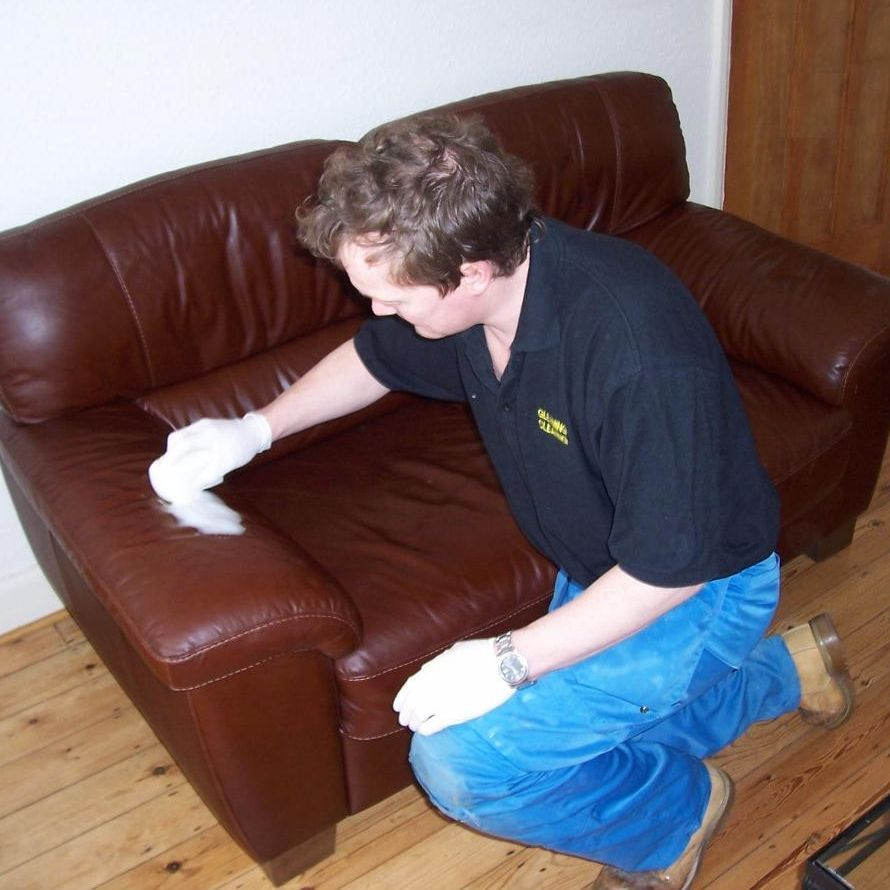 leather sofa cleaning in Leicester