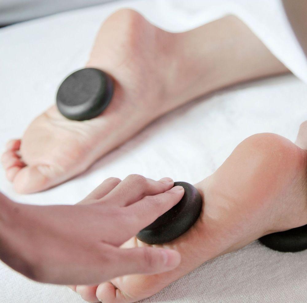 Hot stone massage in Alexandria Virginia massage therapy studio