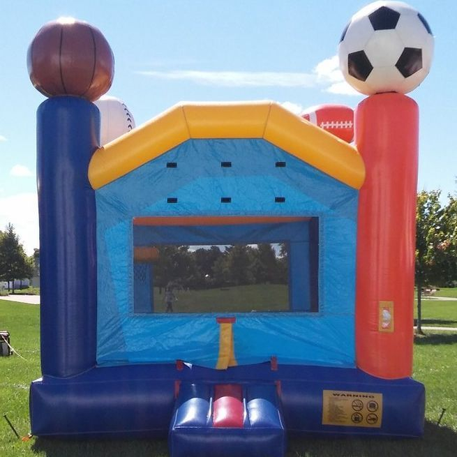 Bounce house sports theme