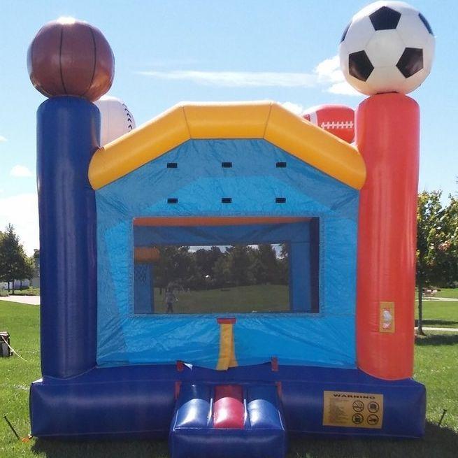 Bounce house sports theme