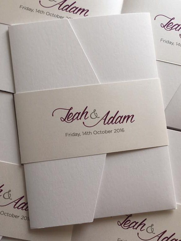 A6 pocketfold invitation, wedding invitations,