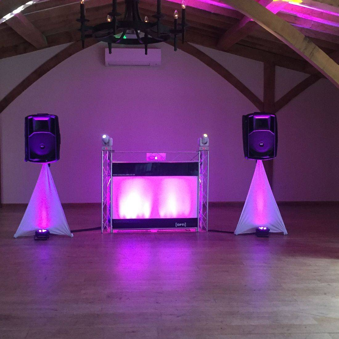 Wedding DJ set up at Packington Moor  Staffordshire, Lichfield