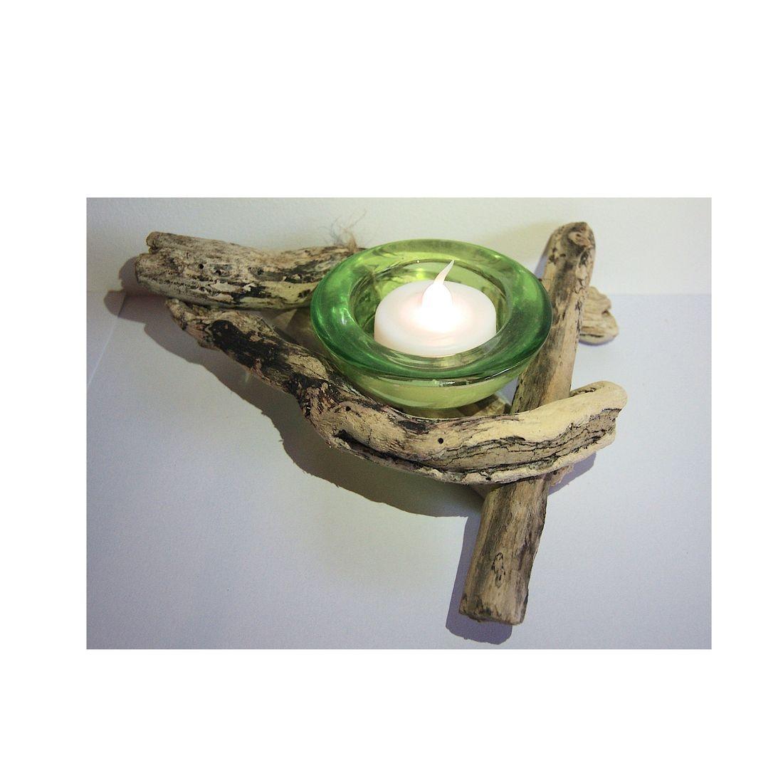 Driftwood candle tea light holder 6