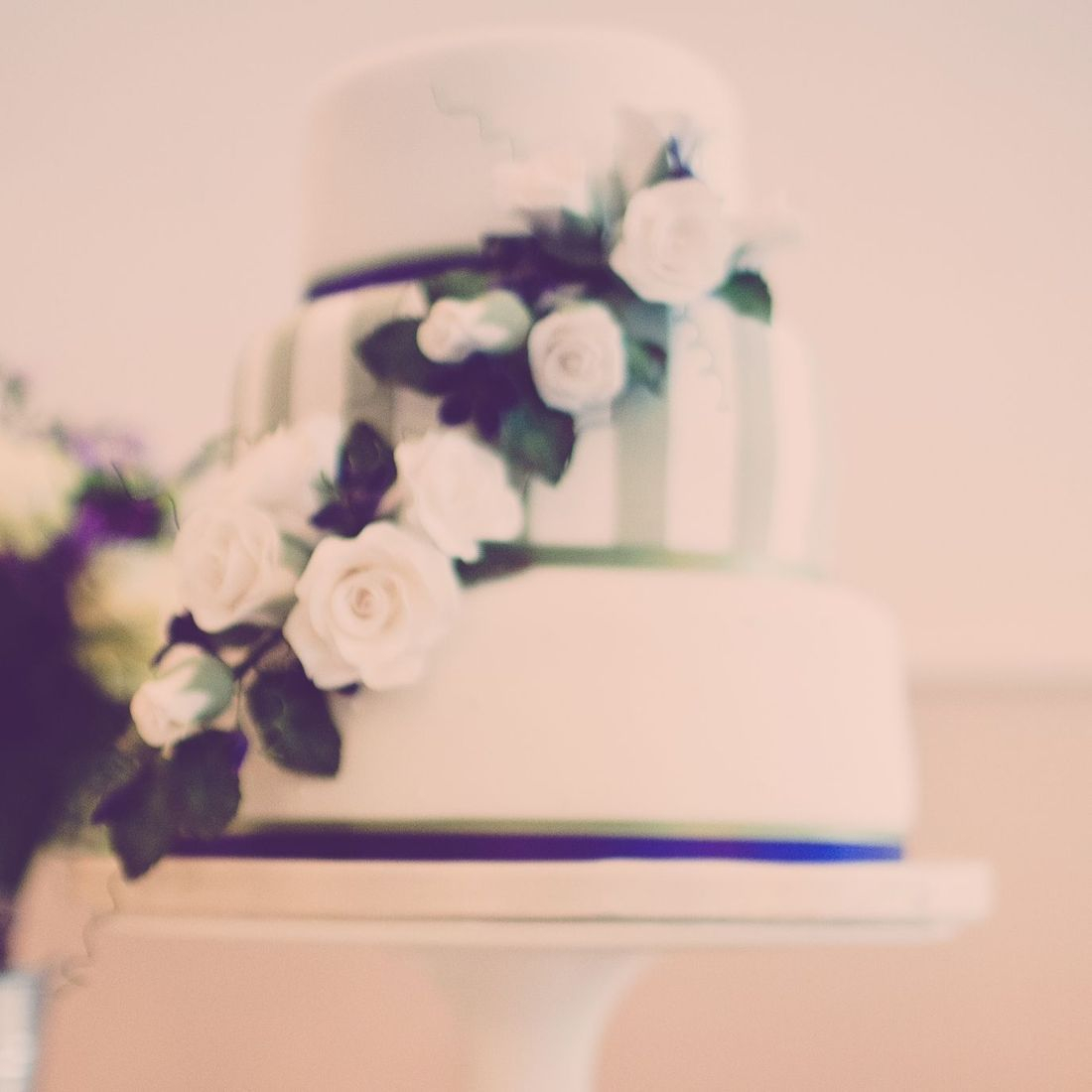 Sage Green and Violet Wedding Cake Fabu-Lous Cakes