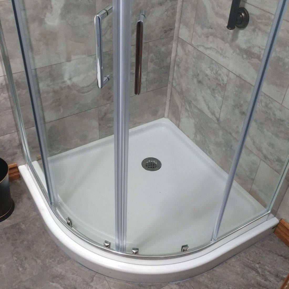 New Shower Base & Door