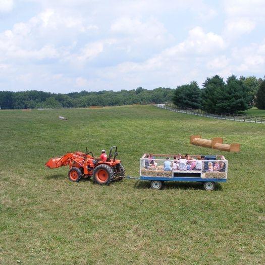Potomac Horse Center Birthday Party Hay Ride